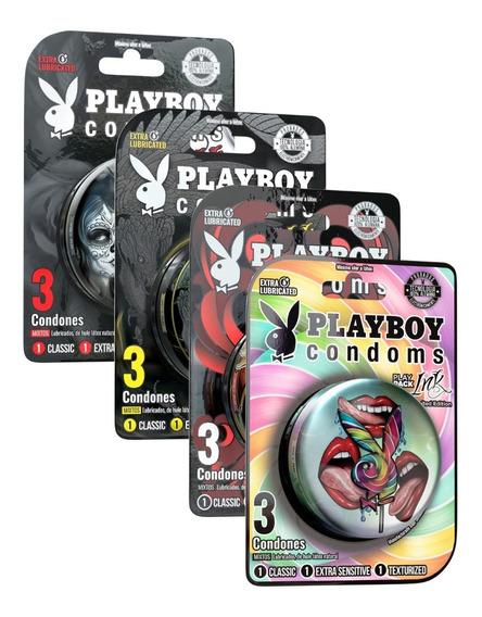 Condones Playpack Ink Paquete De 24 Playboy Condoms