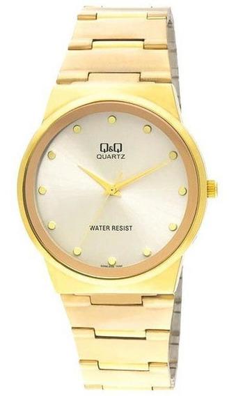 Relógio Pulso Q&q Japan Analógico Masculino Aço Redondo