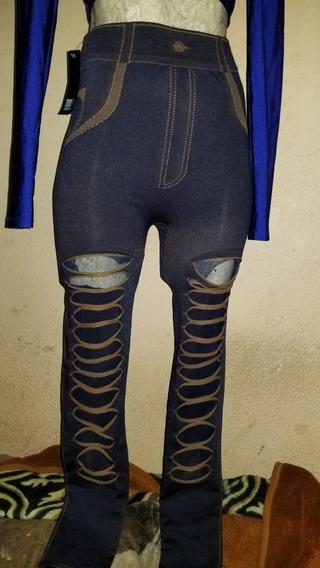 Sexy Leggin Rasgado Tipo Pantalón