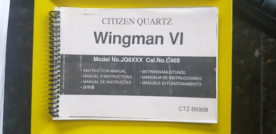 Manual De Instruções Relógio Citizen Wingman Vi Cópia