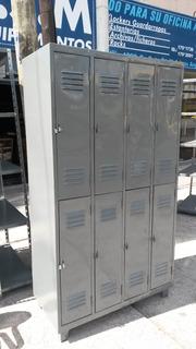 Locker Metálico 8 Puertas