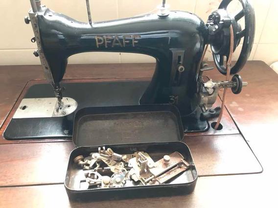 Máquina De Costura Antiga Pfaff Completa E Funcionando