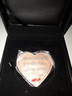 Linda Medalha Homenagem Ao Amor. Bronze. Estojo De Luxo.