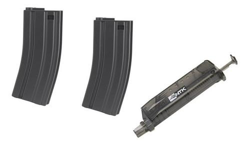 2 Magazines Rossi M4 Mid-cap Airsoft 6mm Com 1 Speedloader