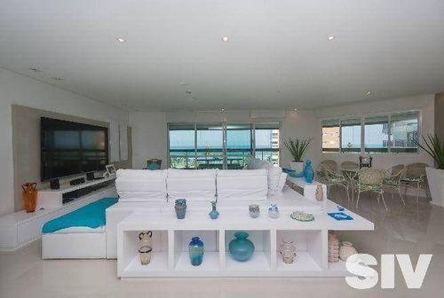 Apartamento Com 4 Dormitórios À Venda, 255 M² Por R$ 5.100.000,00 - Riviera - Módulo 6 - Bertioga/sp - Ap1202