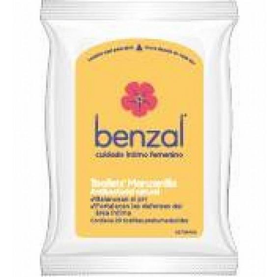 Benzal Toallitas Para Higiene Femenina Manzanilla 20 Piezas