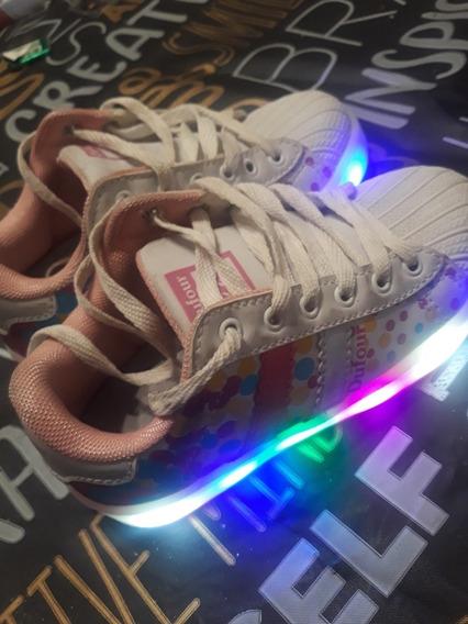 Zapatillas Dufour Originales Con Luces Recargables Para Niña