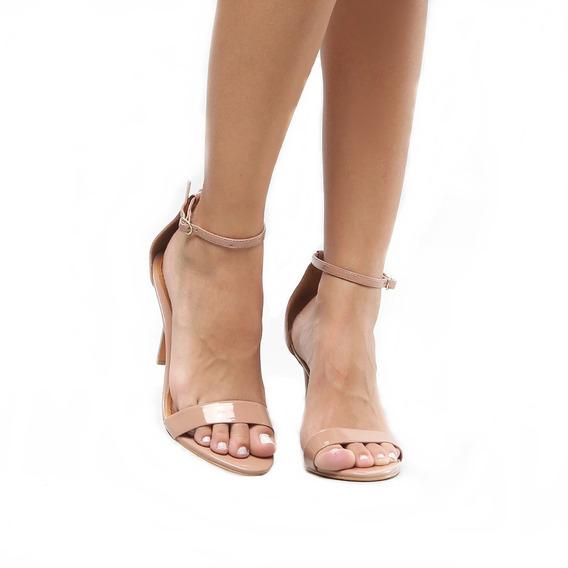 Sapato Clássico Salto Alto 9cm Bico Fino Agulha Tira Slim