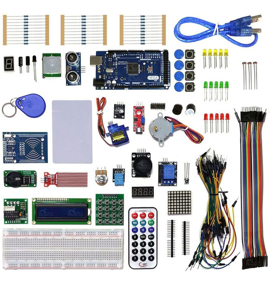 Kit Robótica Placa Mega C/ Tutorial Para Arduino + 200 Pc Nf
