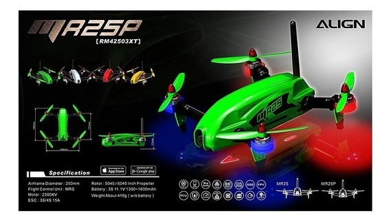 Drone Mr25p Racing Quad Combo 300mw -rm42503xsp Verde