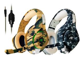 Auriculares Gamer Con Microfono Para Ps4 Fortnite Camuflado