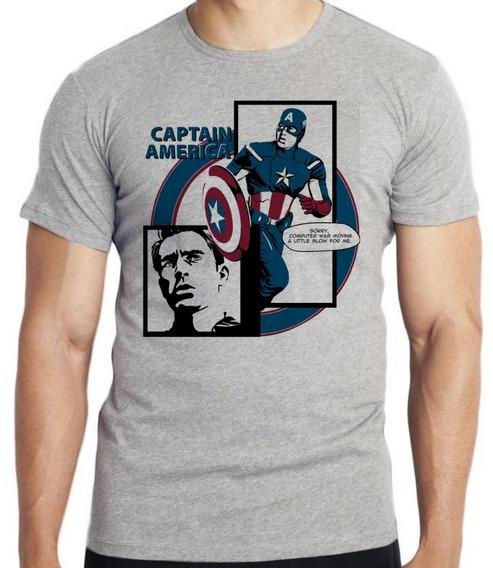Camiseta Luxo Capitão América Computer Avengers Vingadores