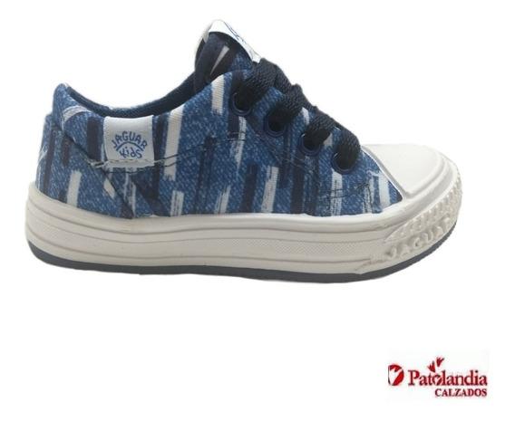 Zapatillas Jaguar C/cordon Niños Azul N° 19/26