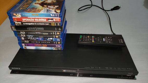 Blu-ray Player Sony 3d + 10 Filmes Blu-ray