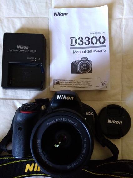 Câmera Nikon D3300 Af-p 18-55 Vr Kit Dx Nikkor Seminova