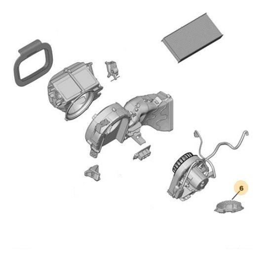 Comando Motor Climatización Peugeot Expert Tepee 2.0 Hdi