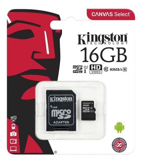 Cartão Memória Micro Sd 16gb Original Kingston Lacrado