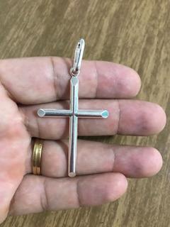 Promoção Pingente Crucifixo Prata Maciça 925 5,5 Cm X 3,5 Cm