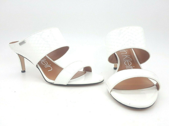 Calvin Klein Cecily Sandalia Mule Color Blanco Talla 25.5 Mx