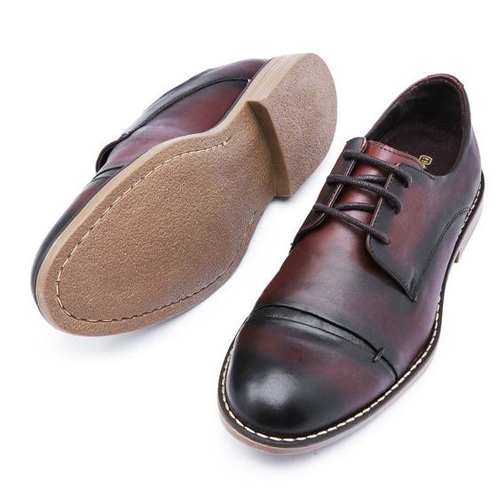 Sapato Social Oxford Café Em Couro
