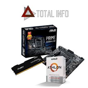 Kit Gamer Asus A320m-k Athlon 200ge Hyperx 8gb 2400mhz