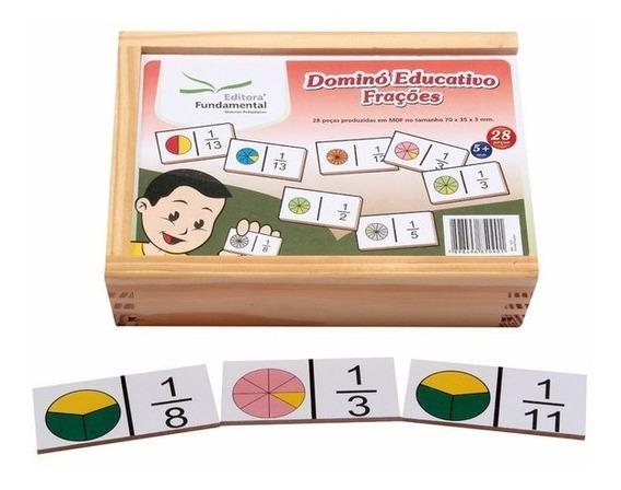 Jogo Dominó Educativo Frações 28 Peças