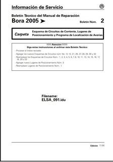 Manual Eléctrico Volkswagen Bora 2006 Meses Sin Inte