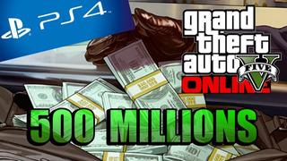 Grand Theft Auto Online Ps4 500 Millones En Tu Propia Cuenta
