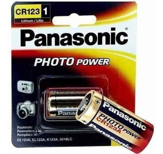 60 Bateria Pilha 3v Cr123a Lithium Photo Original Panasonic