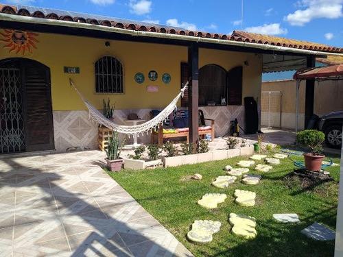 Imagem 1 de 21 de Magnífica Casa 5 Quartos, Suítes, Piscina, Área Gourmet, Quintal E Garagem - Araruama - Ca0095