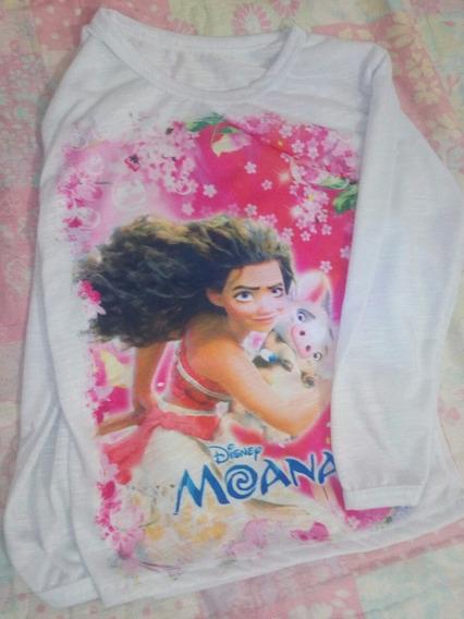 Camisetinha Manga Longa Disnep Disney Moana M 1/2/3