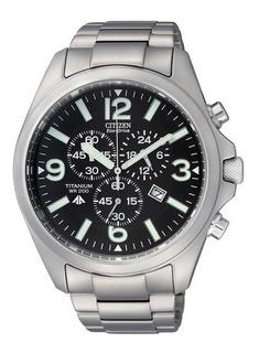 Reloj Citizen Eco Drive Titanium Sumergible At066064e Hombre