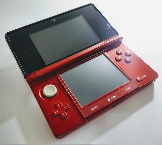 Nintendo 3ds - Vermelho Flame Red - Compre Em 12 X No Cartão