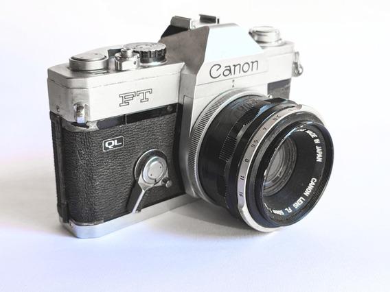 Câmera Fotográfica Analógica Canon Ft Com Objetiva 50mm