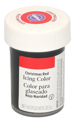 Imagen 1 de 5 de Gel Colorante Para Glaseado Rojo Navidad Original