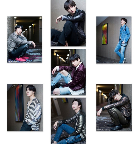 Bts 7 Posters Envio Gratis Kpop V Jungkook Jimin Suga Set