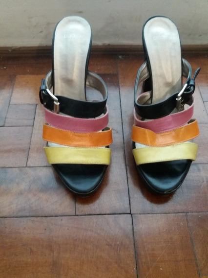 Sandalias Zapatos Taco Alto Marca Blaque Talle 40