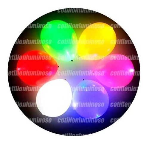 10 Globos Con Luz Led Grandes 12 Para Fiestas Bodas 15 Años