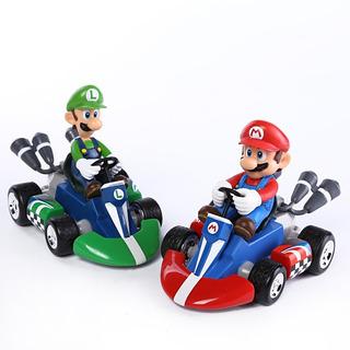 Figuras Mario Kart Super Mario Bros Car Luigi Nintendo