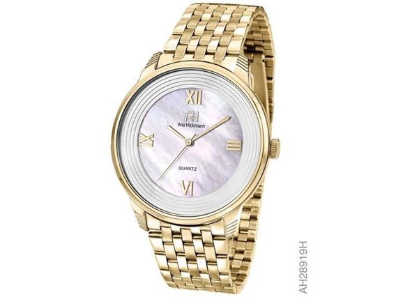 Relógio Feminino Dourado Ana Hickmann Ah28919h
