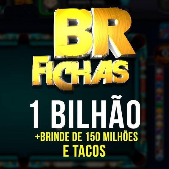 8 Ball Pool Fichas 1 Bilhão + 150m + Tacos