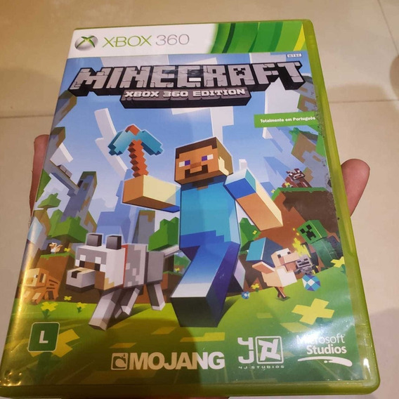 Jogo Xbox 360 Minecraft Original Mídia Física
