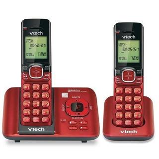 Telefono Inalambrico Con Identificador 2 Color Rojo