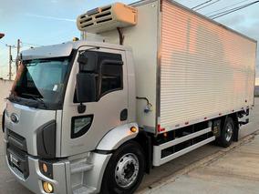 Tolentino Caminhao Ford Cargo 1519 2015 Bau Frigorifico Toco