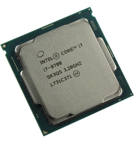 Processador gamer Intel Core i7-8700 CM8068403358316 de 6 núcleos e 3.2GHz de frequência com gráfica integrada