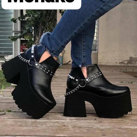 Zapato Plataforma Negro Nuevo Num. 36