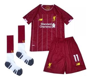 Kit Infantil Liverpool 2019/2020 Salah - Pronta Entrega