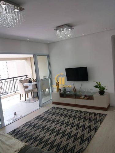 Apartamento No Tatuapé Com 4 Dormitórios À Venda, 135 M² Por R$ 1.290.000 - Tatuapé - São Paulo/sp - Ap0420