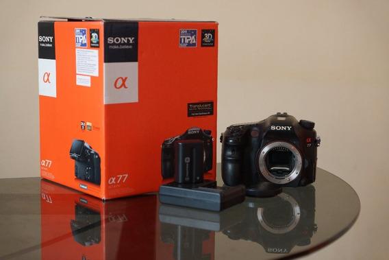 Câmera Sony Alpha 77 + Lente 18-200 / 3.5-6.3