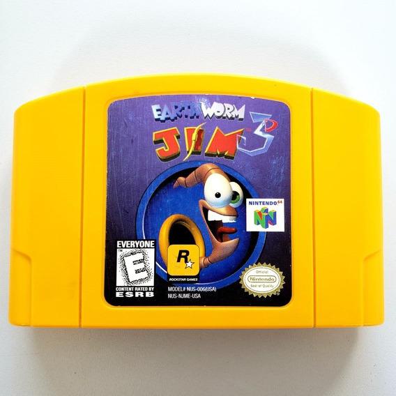 Earthworm Jim 3d Original N64 Nintendo 64